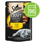 Sheba Craft Collection Pack 96 x 85 g - Manzo