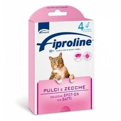 Fiproline spot on line gatto 4 pipette rosa