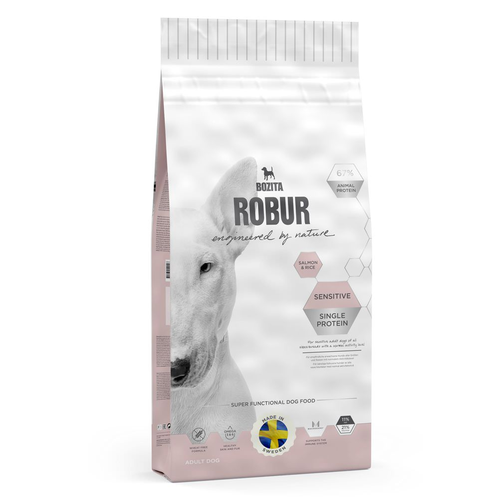 Bozita Robur Sensitive Single Protein - Salmone & Riso<